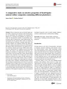 A comparative study on selective properties of Kraft ... - Springer Link