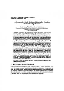 A Comparative Study On Some Methods For Handling ... - Eprint UTM