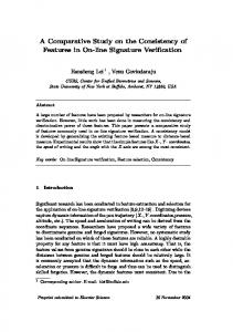 A Comparative Study on the Consistency of Features in ... - CiteSeerX