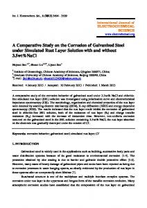 A Comparative Study on the Corrosion of Galvanized Steel under