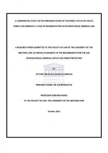 a comparative study on the implementation of the rome ... - CiteSeerX