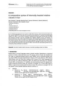 A comparative syntax of internally-headed relative clauses in Gur