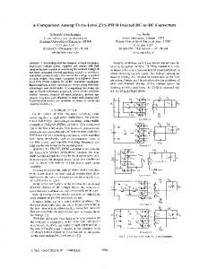 A Comparison Among Three-Level ZVS-PWM Isolated DC ... - Ivo Barbi