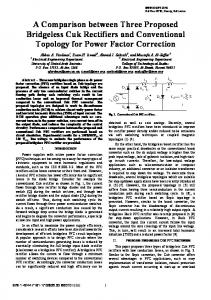 A comparison between three proposed bridgeless Cuk rectifiers and ...