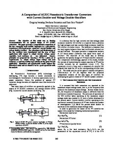 A Comparison of AC/DC Piezoelectric Transformer Converters with ...
