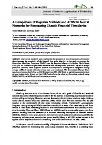 A Comparison of Bayesian Methods and Artificial Neural Networks for ...