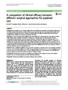 A comparison of clinical efficacy between different
