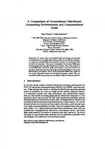 A Comparison of Conventional Distributed ... - Semantic Scholar
