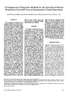 A comparison of diagnostic methods for the detection of bovine ...