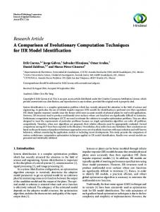 A Comparison of Evolutionary Computation Techniques for IIR Model ...