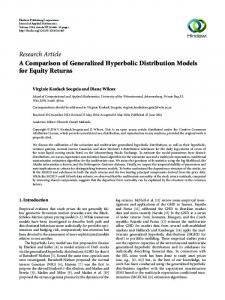 A Comparison of Generalized Hyperbolic Distribution Models for ...