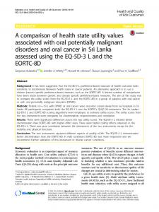 A comparison of health state utility values associated ...