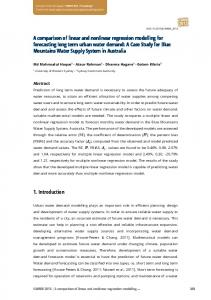 A comparison of linear and nonlinear regression modelling for ...