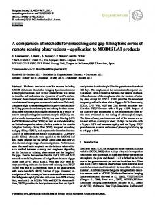 A comparison of methods for smoothing and gap ... - Biogeosciences