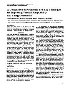 A Comparison of Plyometric Training Techniques - CiteSeerX