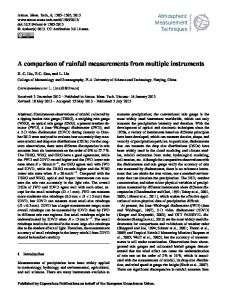 A comparison of rainfall measurements from ... - Atmos. Meas. Tech