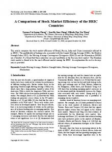 A Comparison of Stock Market Efficiency of the BRIC Countries