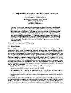 A Comparison of Tetrahedral Mesh Improvement ... - CiteSeerX