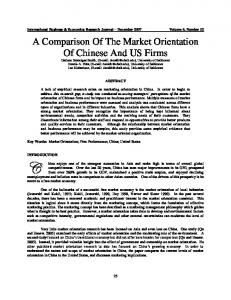 A Comparison of the Market Orientation of Chilean ...
