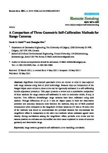 A Comparison of Three Geometric Self-Calibration