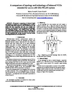 A comparison of topology and technology of balanced VCOs intended ...