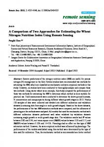 A Comparison of Two Approaches for Estimating the Wheat ... - MDPI