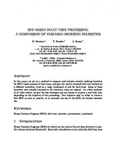 A COMPARISON OF VARIABLE ORDERING HEURISTICS Abstract