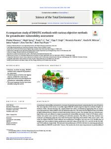 A comparison study of DRASTIC methods with