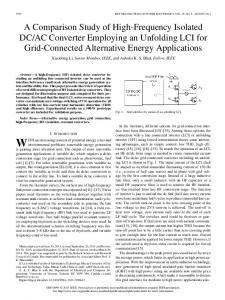 A Comparison Study of High-Frequency Isolated DC/AC Converter ...