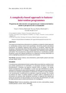 A complexity-based approach to batterer intervention ...
