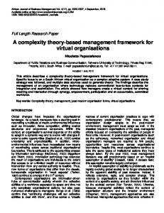 A complexity theory-based management