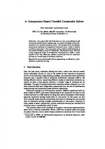 A Component-Based Parallel Constraint Solver - Department of ...
