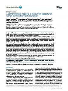 A comprehensive mapping of the current capacity for human nutrition ...
