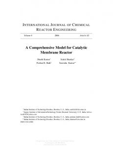 A Comprehensive Model for Catalytic Membrane