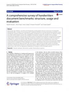 A Comprehensive Survey of Handwritten Document Benchmarks ...