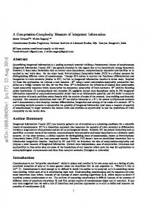 A Compression-Complexity Measure of Integrated Information
