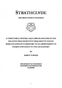 A computable general equilibrium analysis of the ...