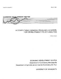 A Computable General Equilibrium Model for ... - AgEcon Search