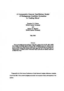 A Computable General Equilibrium Model of Endogenous Coalition ...