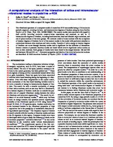 A computational analysis of the interaction of lattice and intramolecular ...
