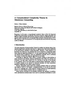 A Computational Complexity Theory in Membrane