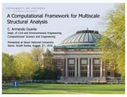 A Computational Framework for Multiscale Structural ...