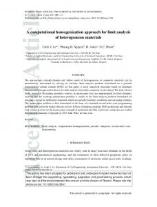 A computational homogenization approach for ... - Wiley Online Library
