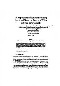 A Computational Model for Simulating Spatial and ... - CiteSeerX