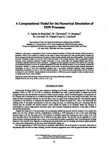 A Computational Model for the Numerical Simulation