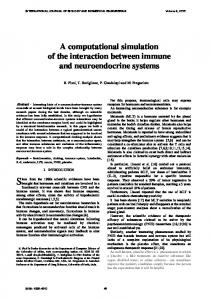 A computational simulation of the interaction between immune and ...