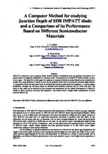 A Computer Method for studying Junction Depth of ...