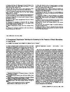 A Computerized Classification Technique for Screening for the ...