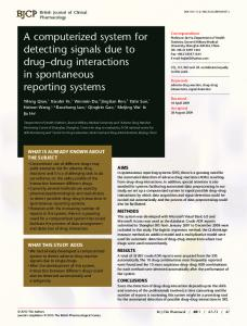 A computerized system for detecting signals due ... - Wiley Online Library