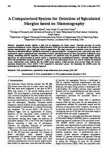 A Computerized System for Detection of Spiculated Margins based on ...